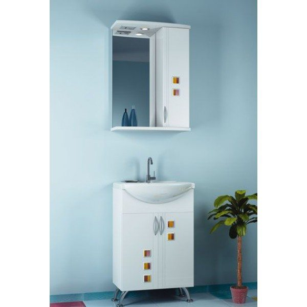 Комплект мебели для ванной комнаты ORIO Мальта 55 (цвет белый)