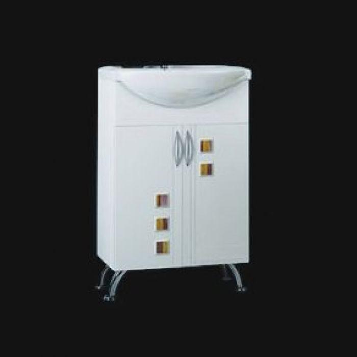 Тумба с раковиной для ванной комнаты ORIO Мальта 55 (цвет белый)