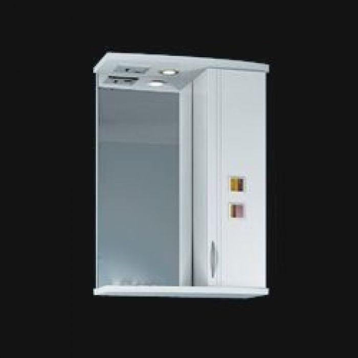 Зеркало для ванной комнаты ORIO Мальта 55 (цвет белый)