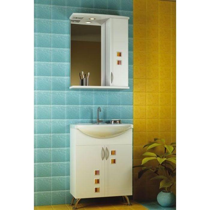 Комплект мебели для ванной комнаты ORIO Мальта 60 (цвет белый)