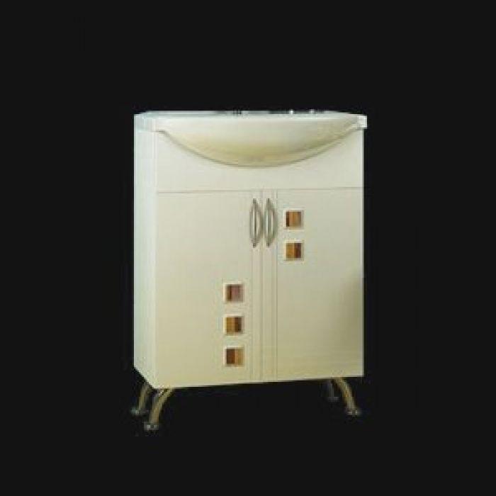 Тумба с раковиной для ванной комнаты ORIO Мальта 60 (цвет белый)