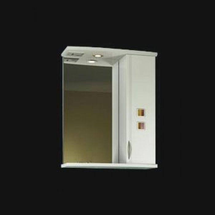 Зеркало для ванной комнаты ORIO Мальта 60 (цвет белый)