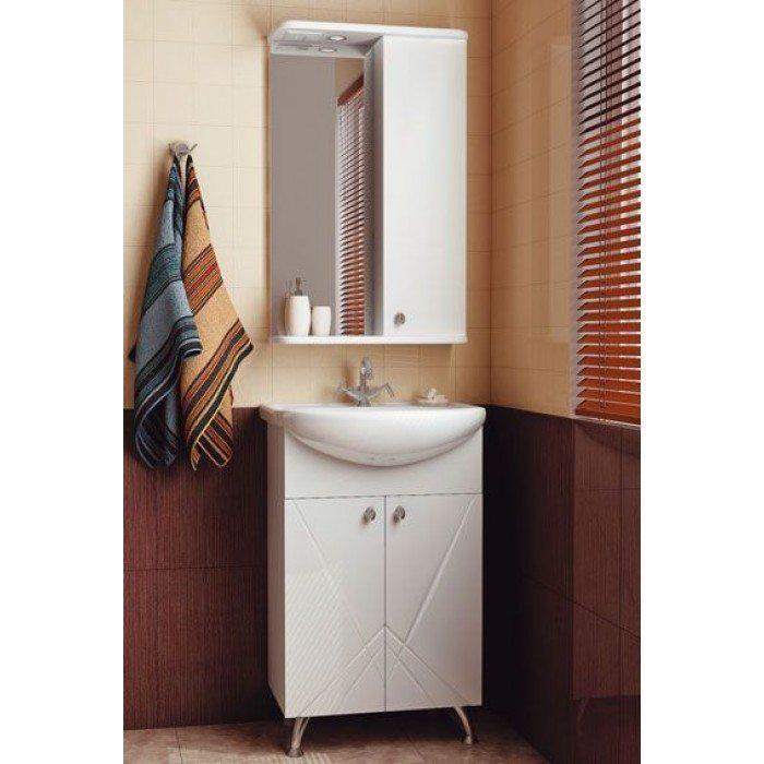 Комплект мебели для ванной комнаты ORIO Памир 50 (цвет белый)
