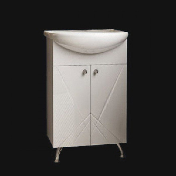 Тумба с раковиной для ванной комнаты ORIO Памир 50 (цвет белый)