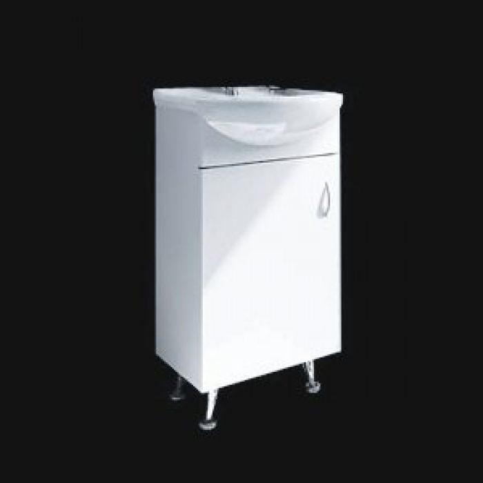 Тумба с раковиной для ванной комнаты ORIO Сити 40 (цвет белый)