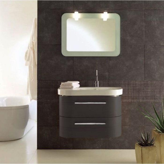Комплект мебели для ванной комнаты Berloni Bagno DAY BS05 DX 410+SE02 (цвет 410 grigio-серый)