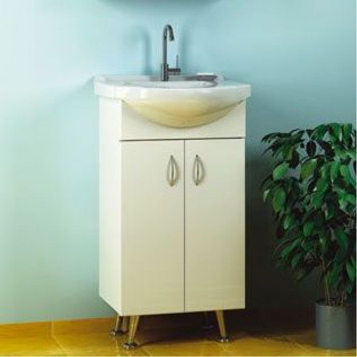 Тумба с раковиной для ванной комнаты ORIO Сити 45 (цвет белый)