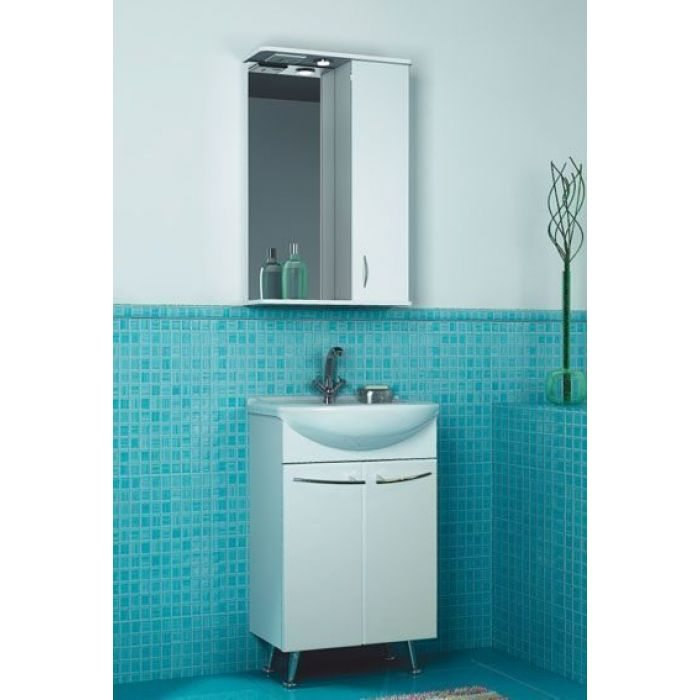 Комплект мебели для ванной комнаты ORIO Сити 50 (цвет белый)