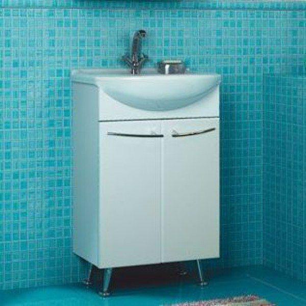 Тумба с раковиной для ванной комнаты ORIO Сити 50 (цвет белый)