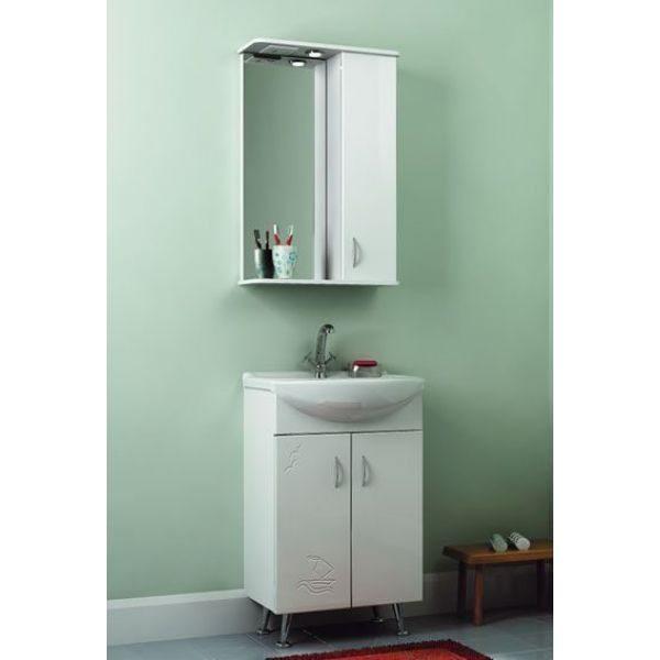 Комплект мебели для ванной комнаты ORIO Сити Прибой 50 (цвет белый)