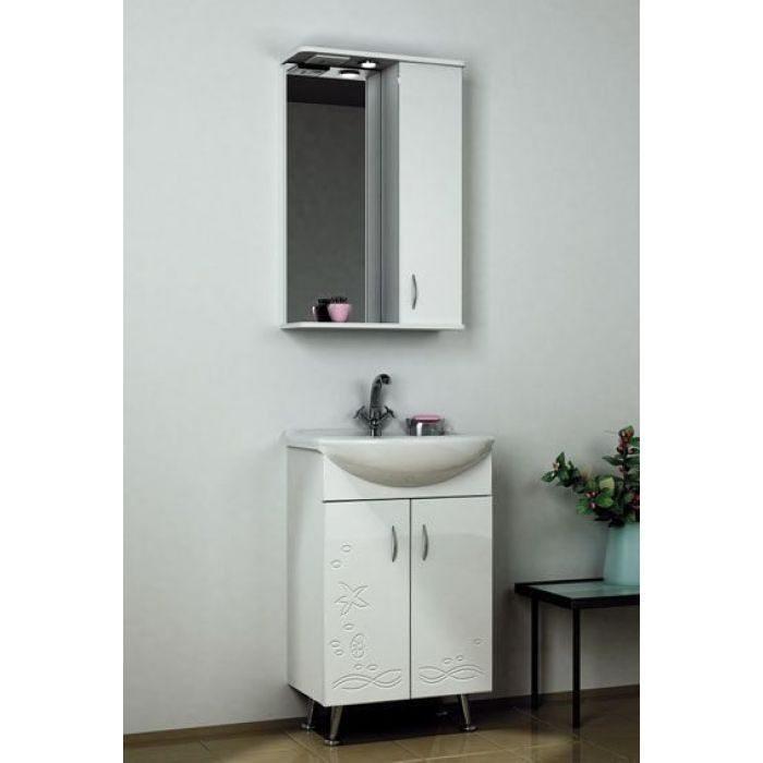 Комплект мебели для ванной комнаты ORIO Сити 50 Подводный мир (цвет белый)