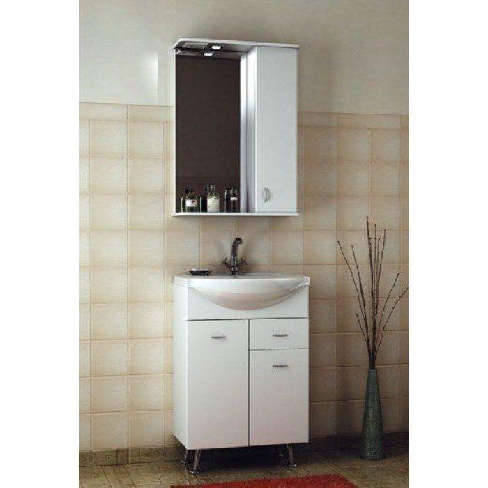 Комплект мебели для ванной комнаты ORIO Сити 55 (цвет белый)