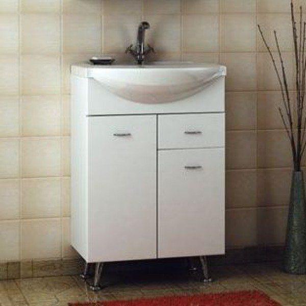 Тумба с раковиной для ванной комнаты ORIO Сити 55 (цвет белый)