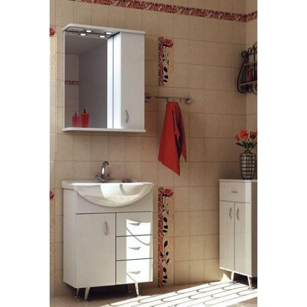 Комплект мебели для ванной комнаты ORIO Сити 60 с ящиками (цвет белый)