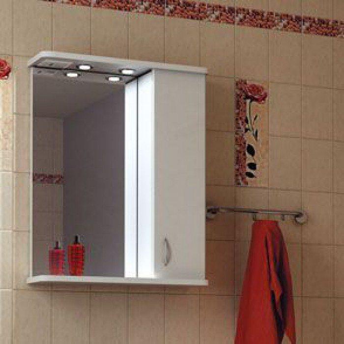 Зеркало для ванной комнаты ORIO Сити 60 (цвет белый)