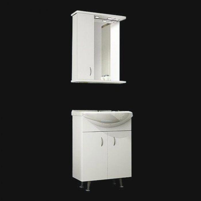 Комплект мебели для ванной комнаты ORIO Сити 60 (цвет белый)