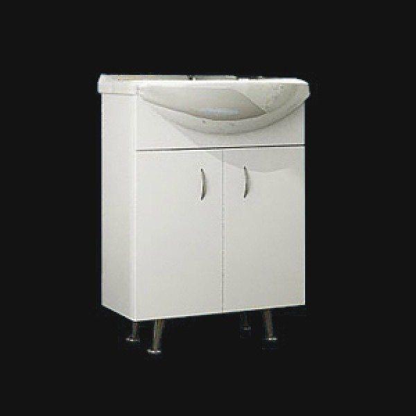 Тумба с раковиной для ванной комнаты ORIO Сити 60 (цвет белый)