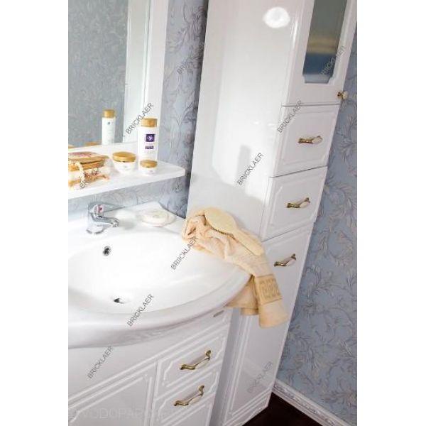 Комплект мебели для ванных бриклаер Лаура 90 (цвет белый)