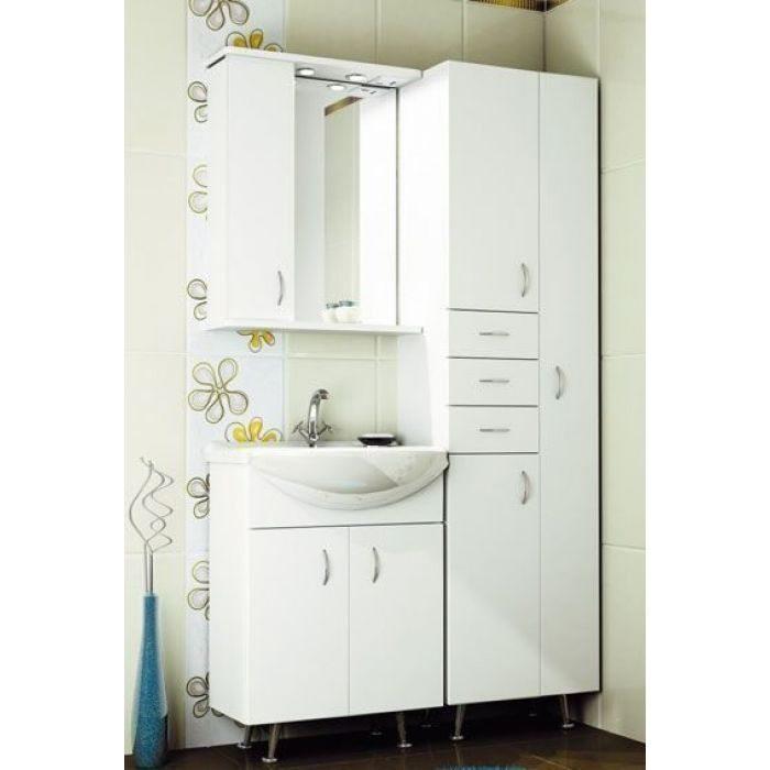 Комплект мебели для ванной комнаты ORIO Сити 60 с пеналом (цвет белый)