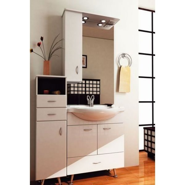 Комплект мебели для ванной ORIO Сити 70 с комодом (цвет белый)