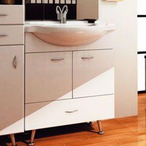 Тумба с раковиной для ванной комнаты ORIO Сити 70 (цвет белый)