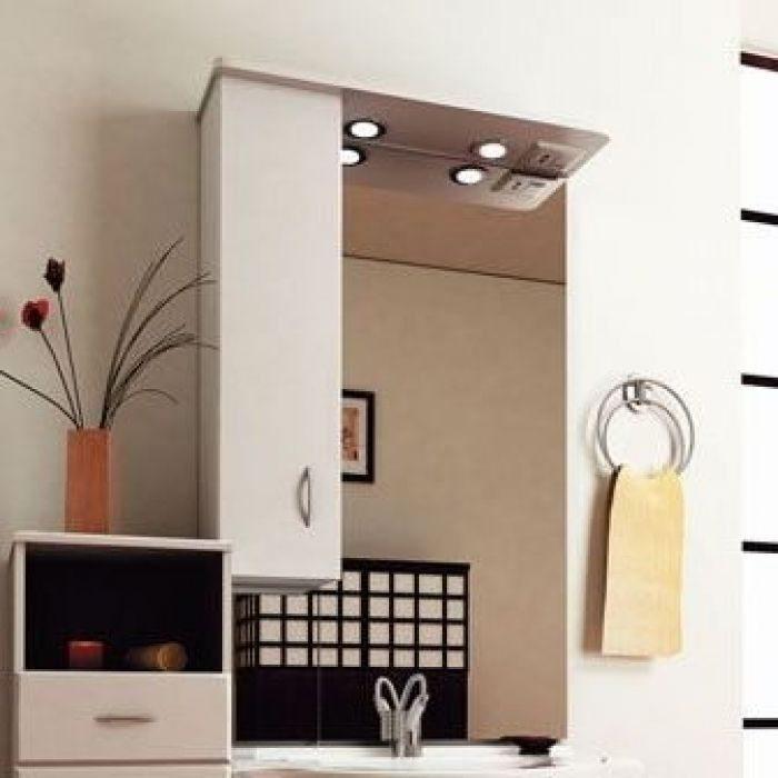 Зеркало для ванной комнаты ORIO Сити 70 (цвет белый)