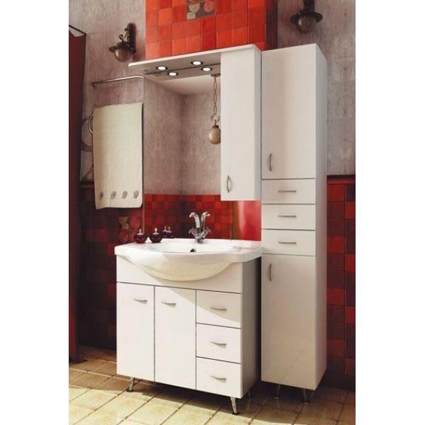 Комплект мебели для ванной ORIO Сити 80 с пеналом (цвет белый)