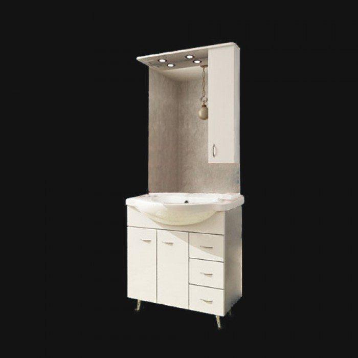 Комплект мебели для ванной ORIO Сити 80 (цвет белый)