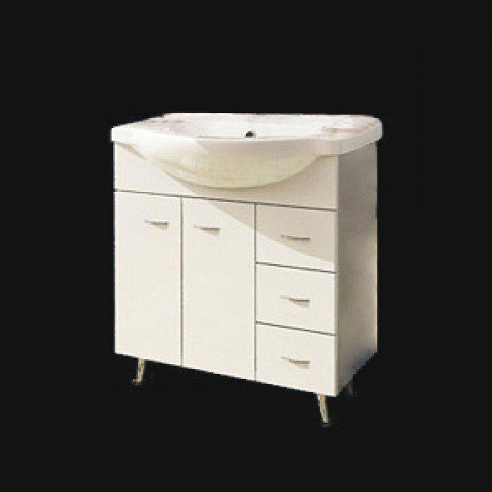 Тумба с раковиной для ванной комнаты ORIO Сити 80 (цвет белый)