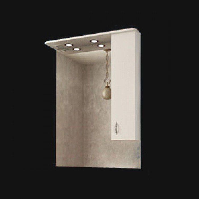 Зеркало для ванной комнаты ORIO Сити 80 (цвет белый)