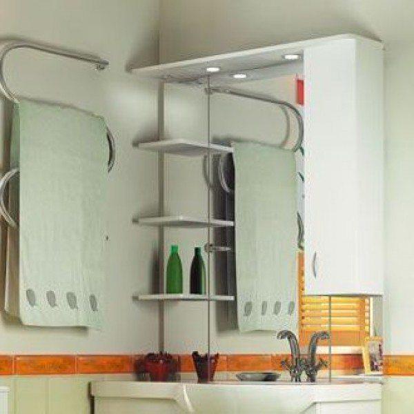 Зеркало для ванной комнаты ORIO Сити 90 (цвет белый)