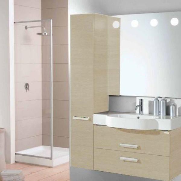 Пенал для ванной Berloni Bagno WALL CS01 (цвет 1406-светлый дуб, отделка ламинат)