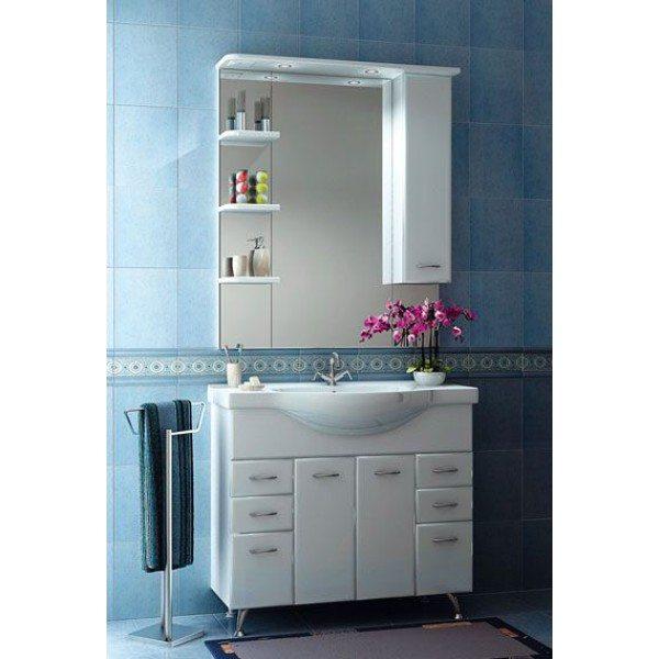 Комплект мебели для ванной ORIO Сити 95 (цвет белый)