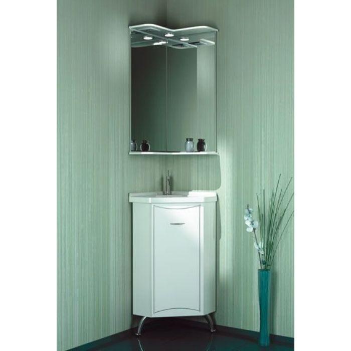 Комплект мебели угловой для ванной ORIO Стиль 40 (цвет белый)