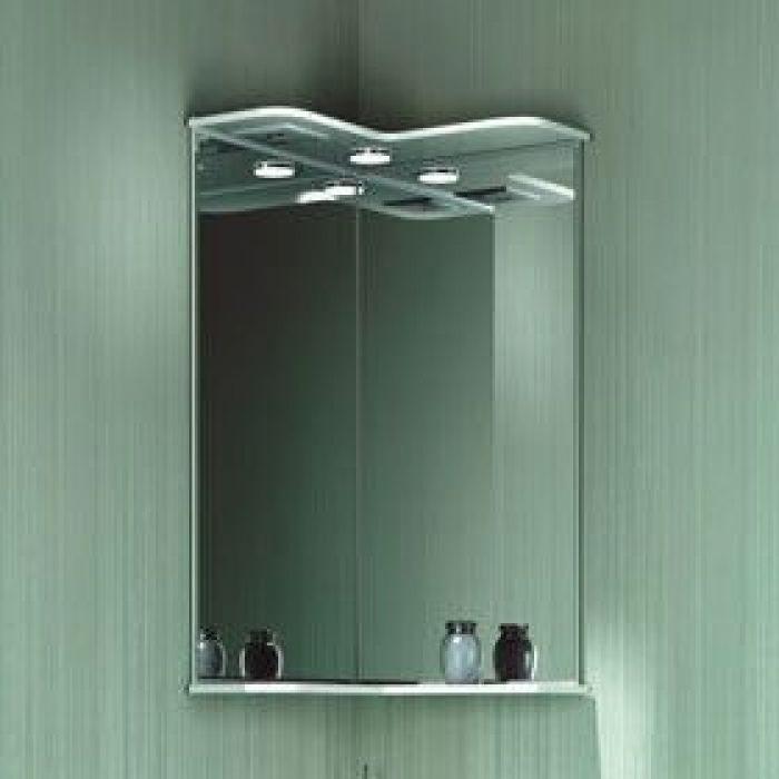Зеркало угловое для ванной комнаты ORIO Стиль 40 (цвет белый)