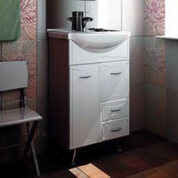 Тумба с раковиной для ванной комнаты ORIO Стиль 55 (цвет белый)