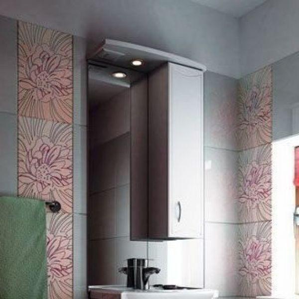 Зеркало для ванной комнаты ORIO Стиль 55 (цвет белый)