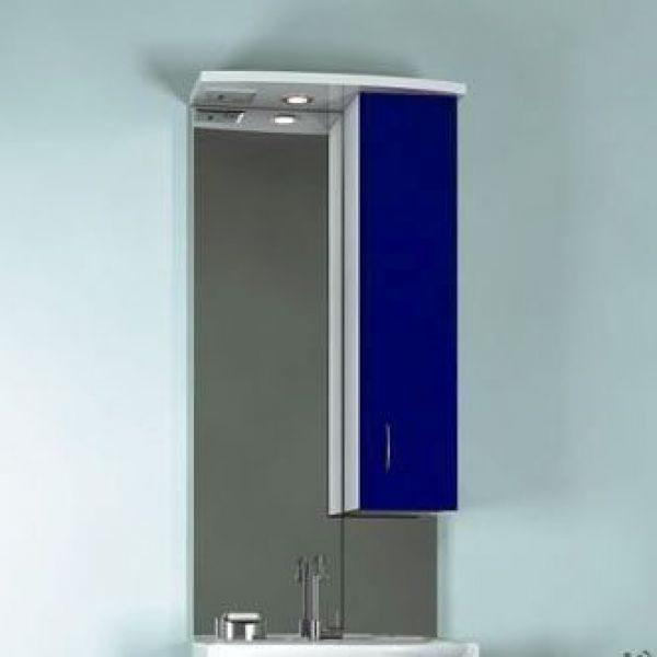 Зеркало для ванной комнаты ORIO Стиль 55 (цвет синий/белый)