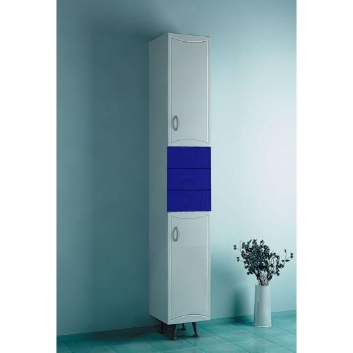 Пенал для ванной ORIO Стиль 31 (цвет синий/белый)