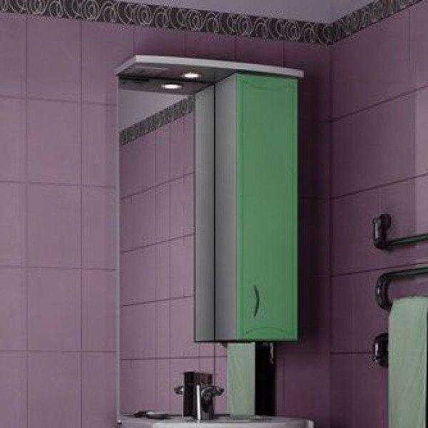 Зеркало для ванной комнаты ORIO Стиль 55 (цвет фисташка/белый)