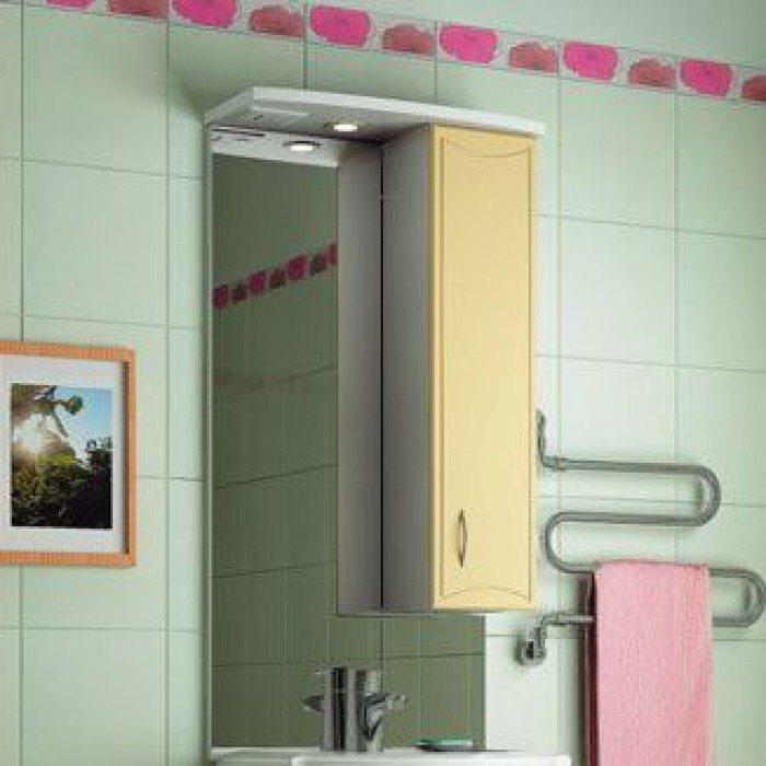 Зеркало для ванной комнаты ORIO Стиль 55 (цвет бежевый/белый)