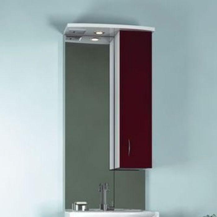 Зеркало для ванной комнаты ORIO Стиль 55 (цвет бордо/белый)