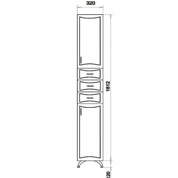 Пенал для ванной ORIO Стиль 31 (цвет белый)