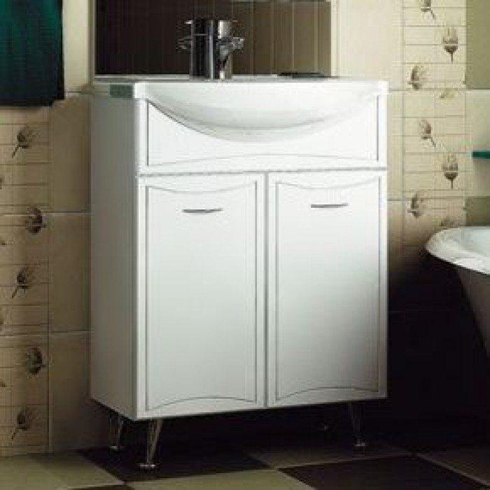 Тумба с раковиной для ванной комнаты ORIO Стиль 65 (цвет белый)