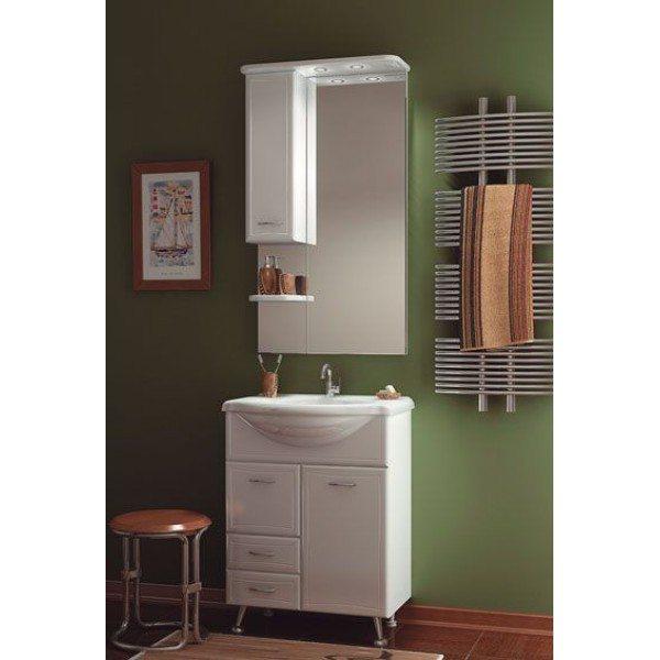Комплект мебели для ванной ORIO Стиль 65 с корзиной для белья (цвет белый)