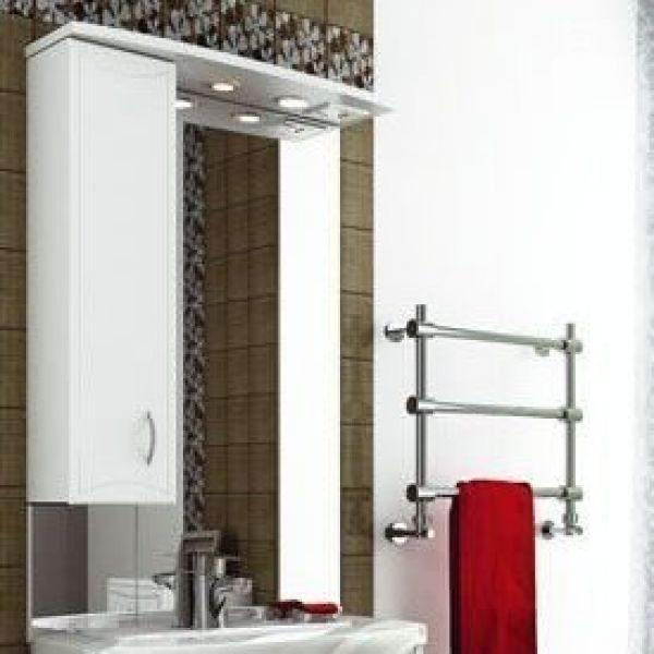 Зеркало для ванной комнаты ORIO Стиль 70 (цвет белый)