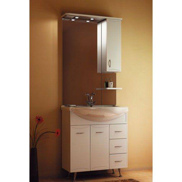 Комплект мебели для ванной ORIO Стиль 75 (цвет белый)