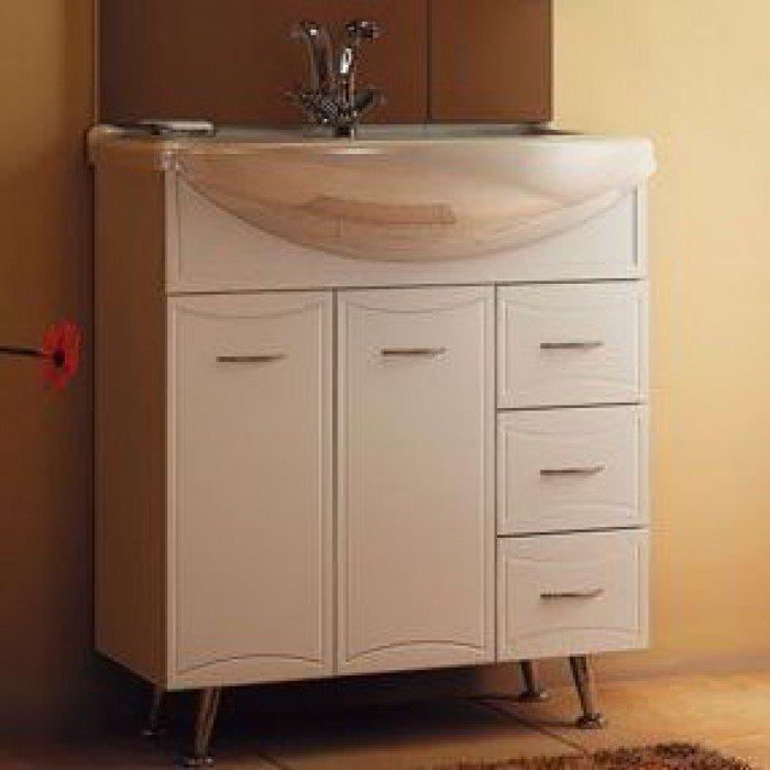 Тумба с раковиной для ванной комнаты ORIO Стиль 75 (цвет белый)