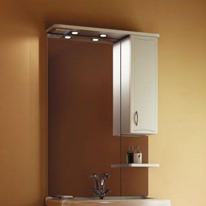 Зеркало для ванной комнаты ORIO Стиль 75 (цвет белый)