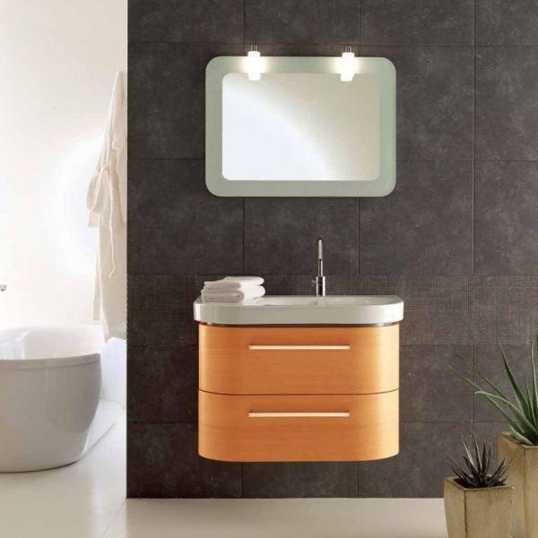 Комплект мебели для ванной Berloni Bagno DAY BS05 DX 413+SE02 (цвет 413 ciliegio-вишня, отделка шпон)